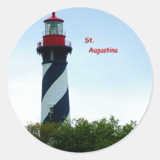 St Augustine Etiqueta Redonda