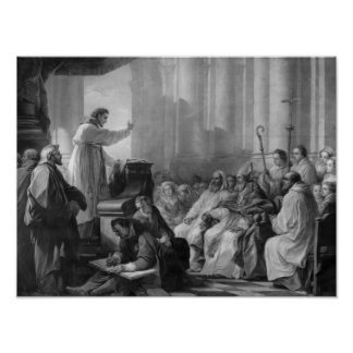 St. Augustine preaching Poster