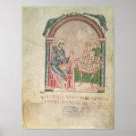 St Augustine que discute con Faustus Póster
