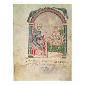St Augustine que discute con Faustus Tarjetas Postales