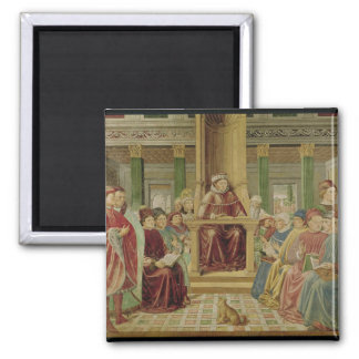 St. Augustine Reading Rhetoric 2 Inch Square Magnet