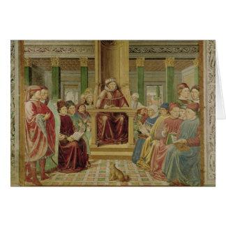 St. Augustine Reading Rhetoric Greeting Card