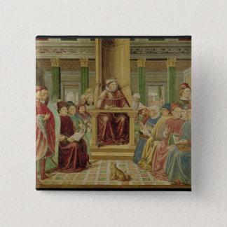 St. Augustine Reading Rhetoric Pinback Button