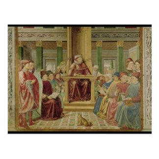 St. Augustine Reading Rhetoric Postcard