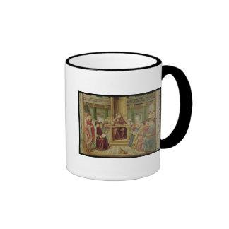 St. Augustine Reading Rhetoric Ringer Coffee Mug
