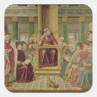 St. Augustine Reading Rhetoric Square Sticker