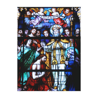 St. Augustine Stained Glass Canvas Print