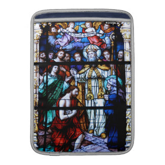 St. Augustine Stained Glass MacBook Sleeve