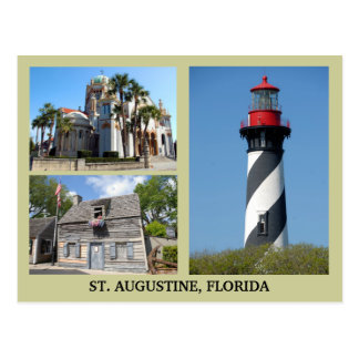 St. Augustine Tourist Sites Postcard