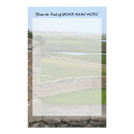 St Augustine view from castle Custom Stationery