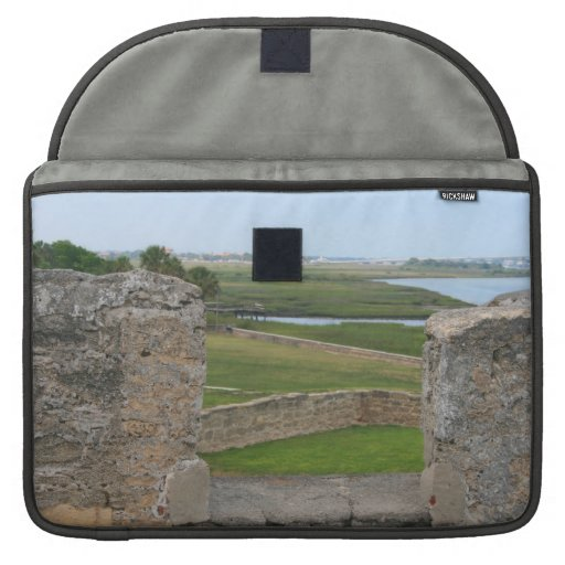 St Augustine view from castle Sleeve For MacBook Pro