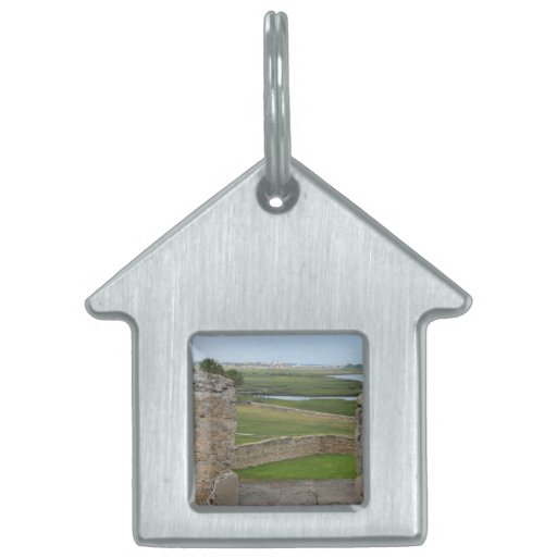 St Augustine view from castle Pet Name Tag