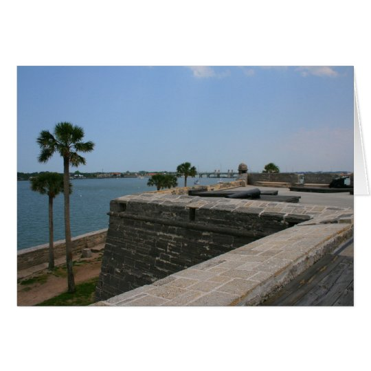 St Augustine View from fort towards bridge Card