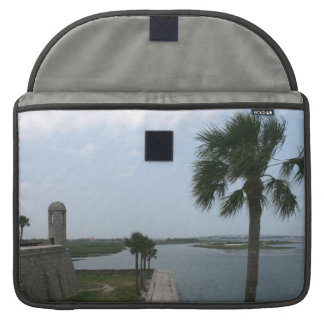 St augustine view on fort towards inlet sleeve for MacBook pro