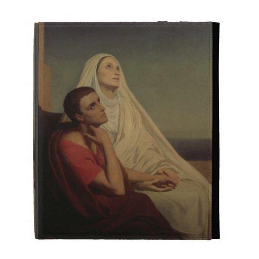 St Augustine y su St. Mónica, 1855 de la madre