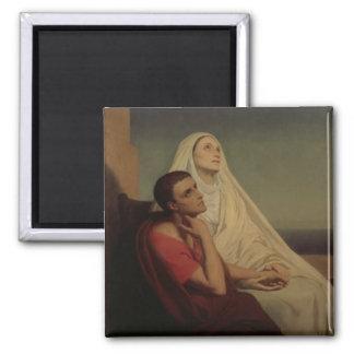 St Augustine y su St. Mónica, 1855 de la madre Imán Cuadrado