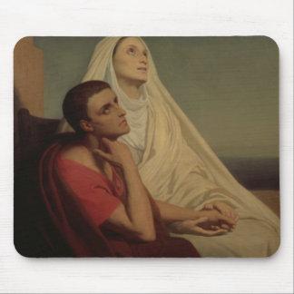 St Augustine y su St. Mónica, 1855 de la madre Mouse Pad