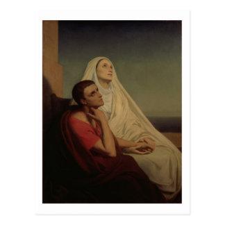 St Augustine y su St. Mónica, 1855 de la madre Postal