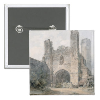 St. Augustine's Gate, Canterbury, c.1797 (w/c over 2 Inch Square Button
