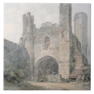 St. Augustine's Gate, Canterbury, c.1797 (w/c over Ceramic Tiles