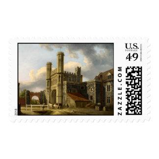 St Augustine's Gate Canterbury England Stamp