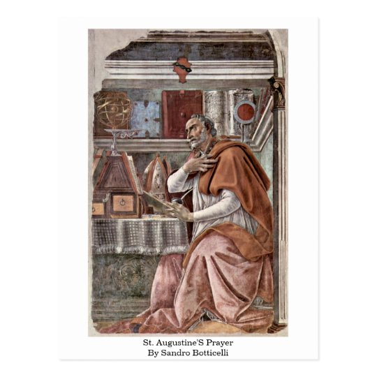St. Augustine'S Prayer By Sandro Botticelli Postcard