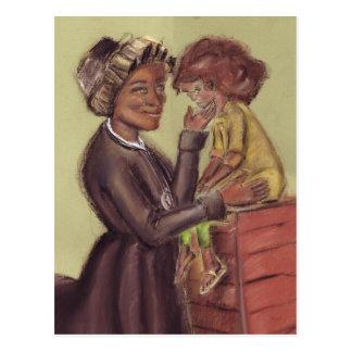 St Bakhita y postal del niño