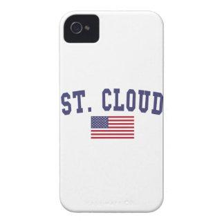 St. Bandera de los E.E.U.U. de la nube Case-Mate iPhone 4 Protectores