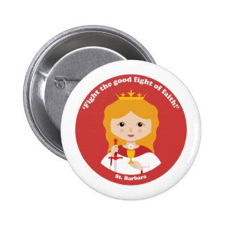 St. Barbara 2 Inch Round Button