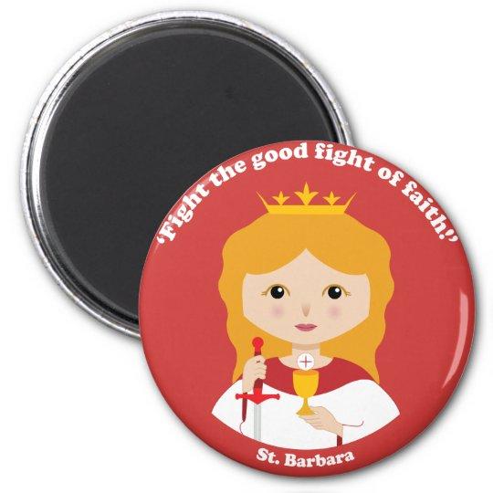 St. Barbara 2 Inch Round Magnet