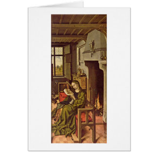 St. Barbara By Robert Campin Greeting Card