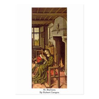 St. Barbara By Robert Campin Postcards