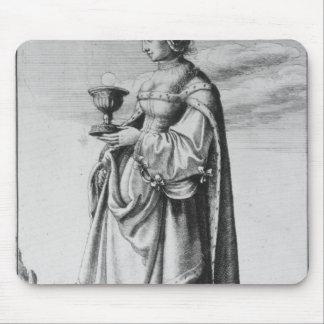 St. Barbara, etched by Wenceslaus Hollar, 1647 Mouse Pad