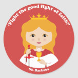 St. Barbara Etiquetas Redondas