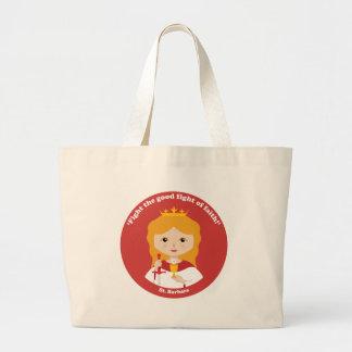 St. Barbara Jumbo Tote Bag
