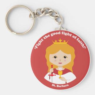 St. Barbara Llavero Redondo Tipo Pin