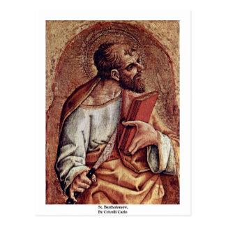 St Bartholomew By Crivelli Carlo Postcard