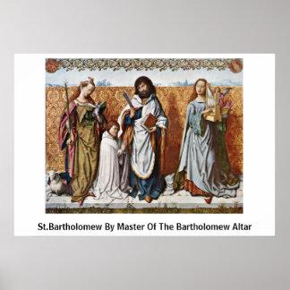 St.Bartholomew By Master Of The Bartholomew Altar Poster
