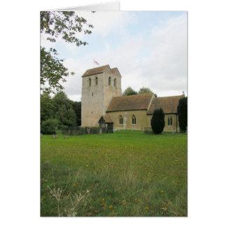 St Bartholomew church, Fingest, Buckinghamshire Card