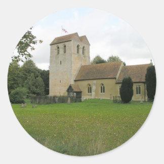St Bartholomew church, Fingest, Buckinghamshire Classic Round Sticker