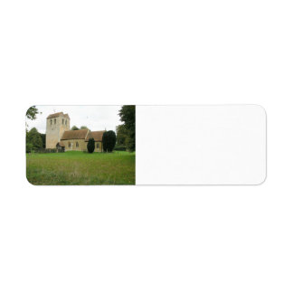 St Bartholomew church, Fingest, Buckinghamshire Label