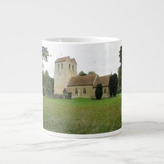 St Bartholomew church, Fingest, Buckinghamshire Large Coffee Mug