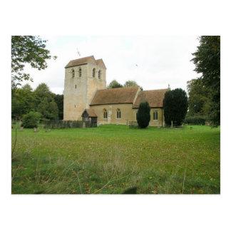 St Bartholomew church, Fingest, Buckinghamshire Postcard