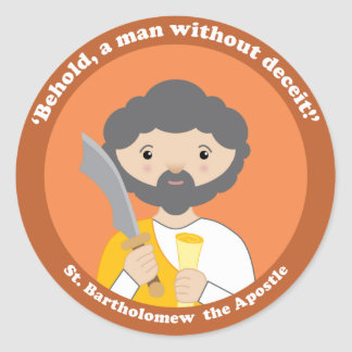 St. Bartholomew the Apostle Classic Round Sticker