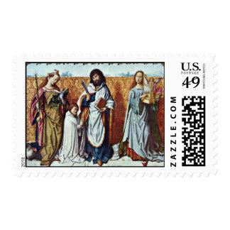 St Bartholomew y el fundador entre del santo A Franqueo