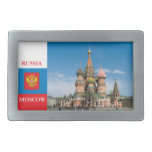 St.Basil Cathedral in Moscow Rectangular Belt Buckles