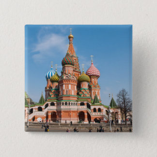 St. Basil cathedral in Moscow Pinback Button