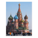 St. Basil cathedral in Moscow Post Card