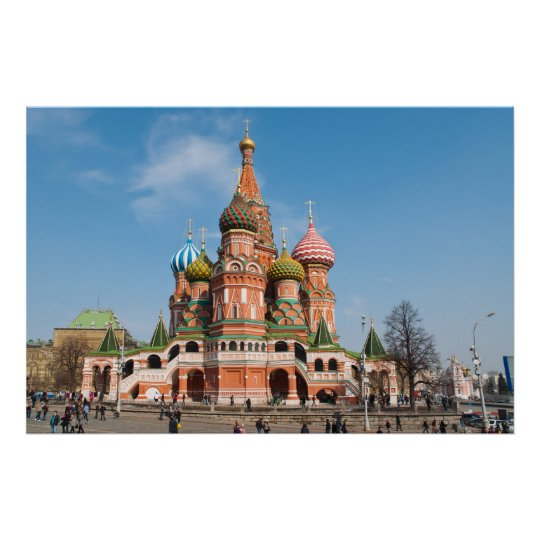 St. Basil cathedral in Moscow Poster