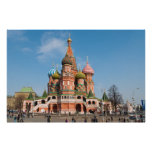 St. Basil cathedral in Moscow Posters